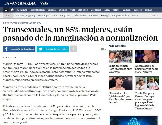 Transexuales, un 85% mujeres, están pasando de la marginación a la normalización
