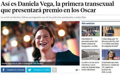 Una actriz transexual presentará los premios Oscar