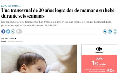 Una mujer transexual logra amantar su bebe
